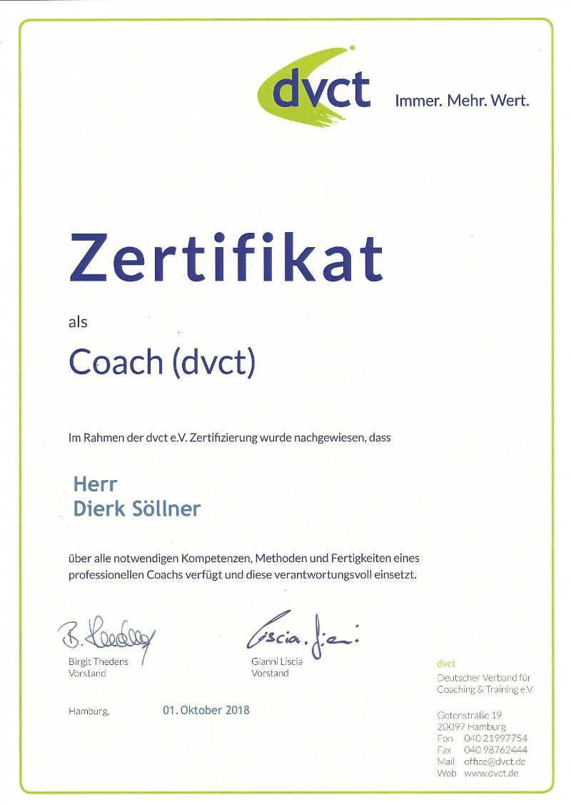 Zertifikat dvct